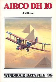 Airco DH.10 чертежи самолёта (Windsock Datafile 38 by J.M.Bruce)