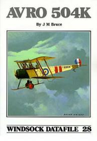 Avro 504K чертежи самолета (Windsock Datafile 28 by J.M.Bruce)